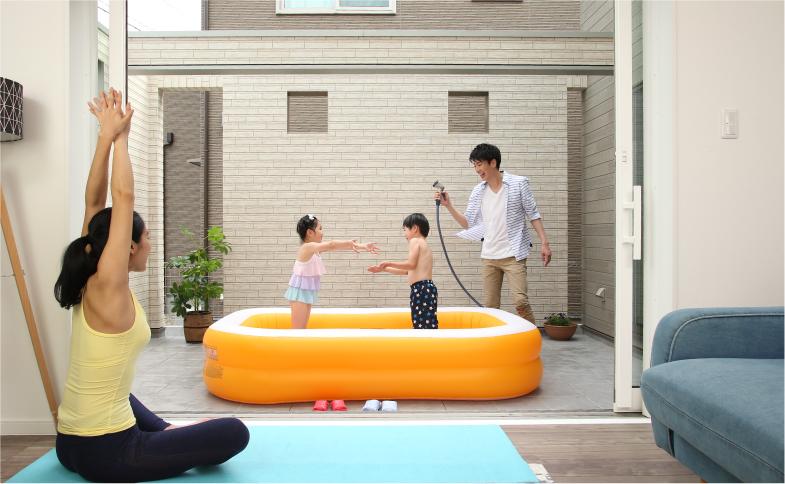 子どもが安心して遊べるプールを